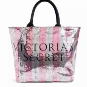 NWT Victoria's Secret Stripped Bling Tote